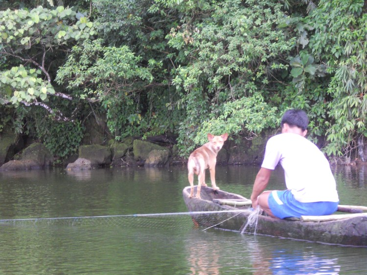 Bulusan Lake Fisherman and His Best Friend