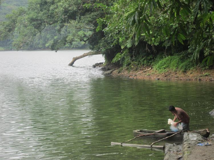 Bulusan Lake Fisherman