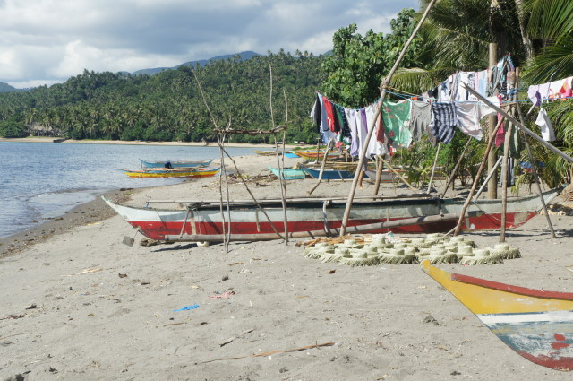 Coastal community beach