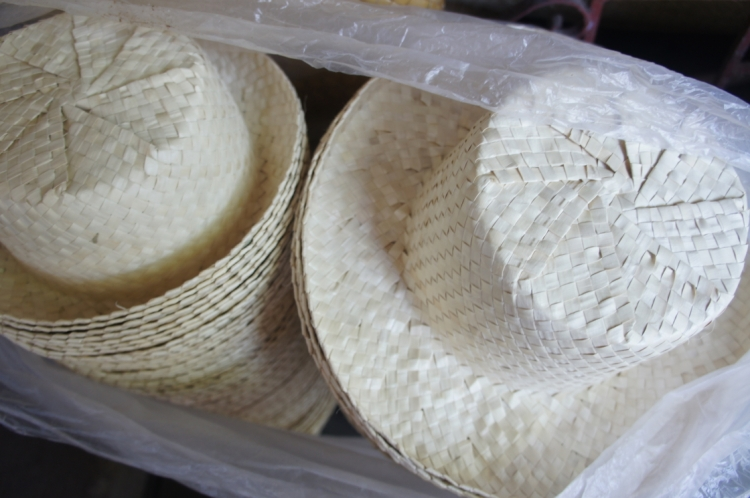 Buri hats from Bulusan
