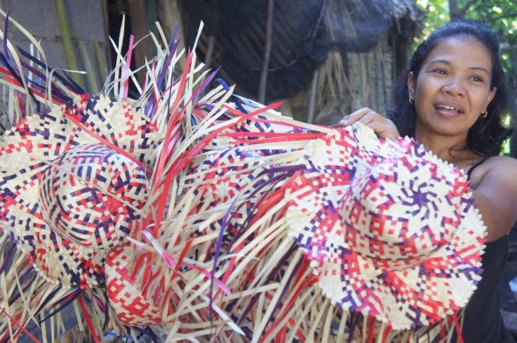 Buri weavers of Mabuhay
