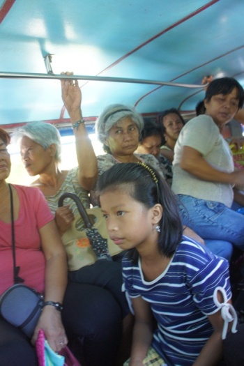 Bulusan-Barcelona jeepney commute sardines-style