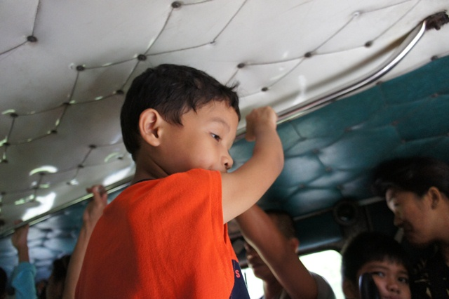 Free jeepney fare for kids as long as they are not occupying a passenger seat.