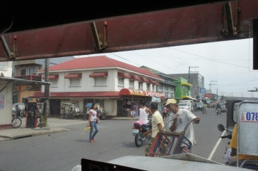 Approaching the jeepney stop in Gubat town