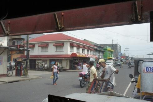 Approaching the jeepney stop in Gubat town