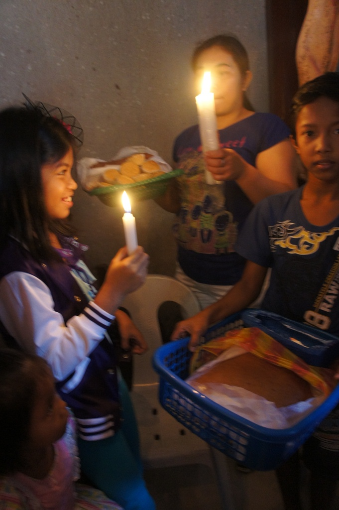 Bonding time. Kids love to bring the mamon for blessing with mom.
