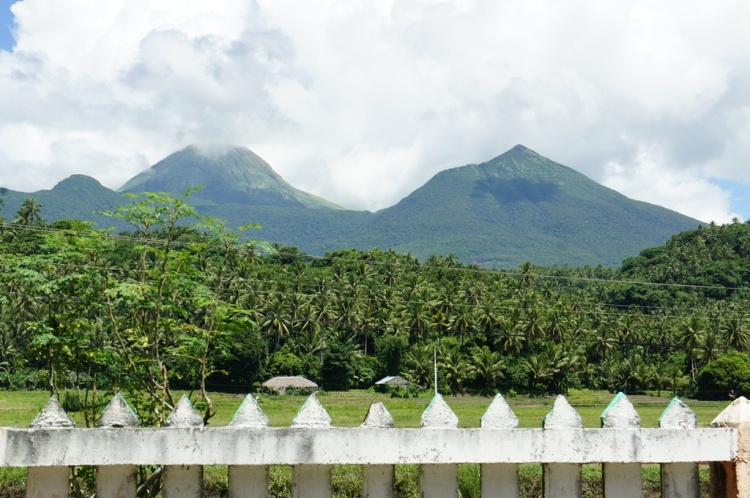 Bulusan Volcano on a clear day showing some of its edifices/mountains.