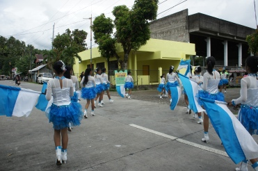DLC from the local high school lends sound and colors to the event.