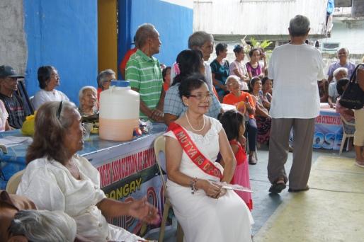 The elderly queen from the village of Dapdap